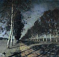 Moonlit Night. A Village., c.1888, levitan