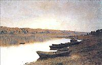On the river Volga, 1888, levitan