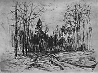 Path in the forest, c.1899, levitan