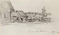 Peasant-s hut, c.1895, levitan