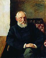 Portrait of Nikolay Panafidin., 1891, levitan