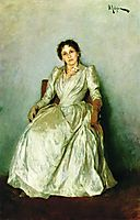 Portrait of Sofia Petrovna Kuvshinnikov, 1888, levitan