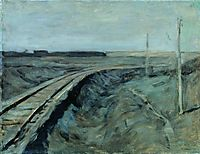 Railroad tracks, c.1899, levitan