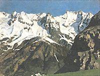 Range of mountains, Mont Blanc, 1897, levitan