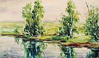 A river, levitan