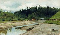 River in the forest, 1886, levitan