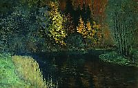 River in the forest. Autumn at river Istra., 1886, levitan