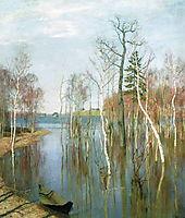 Spring. High waters., 1897, levitan
