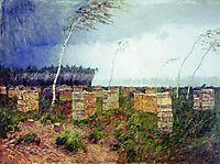 Tempest. Rain., 1899, levitan