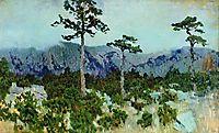 Three pines, 1886, levitan