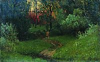 Trail in the forest, c.1880, levitan