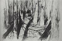 Trunks of the trees, c.1895, levitan