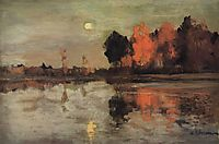 Twilight. Moon., 1899, levitan