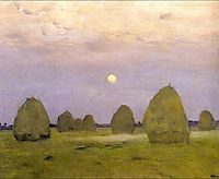Twilight. Stacks, 1899, levitan