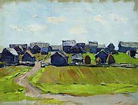A village, levitan