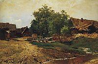 Village Savvinskaya near Zvenigorod at summer, 1884, levitan