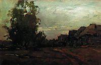 Village. Twilight., 1897, levitan