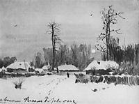 Village. Winter., 1888, levitan