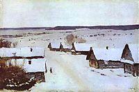 Village in Winter, c.1877, levitan