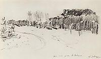 Winter path in the forest, c.1899, levitan