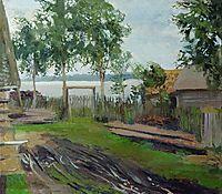 A yard, levitan