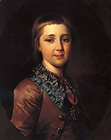 Alexander I, as a child, 1787, levitzky