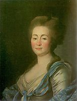 Anna Dorothea Louise Schmidt, née. Baroness Klossen, c.1785, levitzky