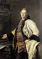 Portrait of Alexander Kokorinov, Director and First Rector of the Academy of Arts in St. Petersburg., 1769, levitzky