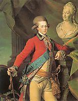 Portrait of Alexander Lanskoy, Aide-de-camp to the Empress, 1782, levitzky