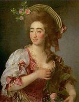 Portrait of Anna Davia (D-Avia) Bernucci, 1782, levitzky