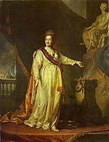 Portrait of Catherine II as Legislator in the Temple of the Goddess of Justice, 1783, levitzky
