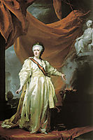 Portrait of Catherine II as Legislator in the Temple of the Goddess of Justice, c.1782, levitzky