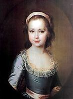 Portrait of Countess Anna Vorontsova as a Child, c.1790, levitzky