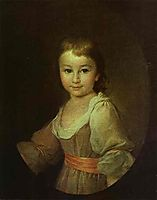 Portrait of Countess Praskovya Vorontsova as a Child, c.1790, levitzky