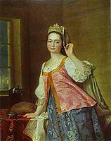 Portrait of A. D. Levitzkaya, Artist s Daughter, 1785, levitzky