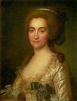 Portrait of E. A. Vorontsova, 1783, levitzky