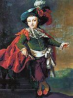 Portrait of F.P. Makerovskiy in masquerade costume, 1789, levitzky
