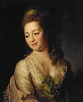 Portrait of Maria Dyakova , 1778, levitzky
