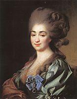 Portrait of Praskovia Repnina, 1781, levitzky