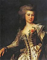 Portrait of Unknown Woman with a rose, 1788, levitzky