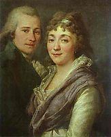 Portrait of V. I. Mitrofanov and M. A. Mitrofanova, c.1795, levitzky