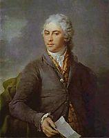 Portrait of Y. I. Bilibin, 1801, levitzky