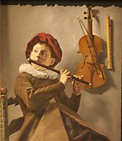 Boy Playing the Flute, 1660, leyster
