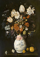 Flowers in a vase, 1654, leyster