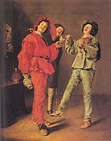 Three Boys Merry-making, 1629, leyster