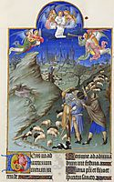 The Annunciation to the Shepherds, limbourg