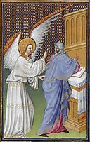 The Archangel Gabriel Appears to Zachary, limbourg