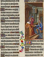 David Entrusts a Letter to Uriah, limbourg