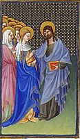 David Foresees the Mystic Marriage of Christ and the Church, limbourg