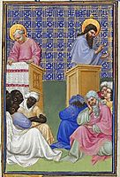 David Foresees the Preaching of the Apostles, limbourg